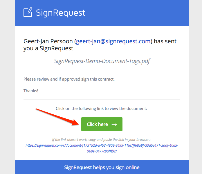 how to sign a document signrequest