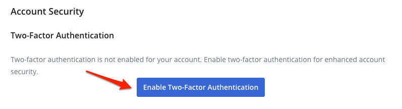 Enable Two-Factor Button